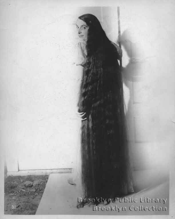 Young Woman With Floor Length Hair Brooklyn Visual Heritage